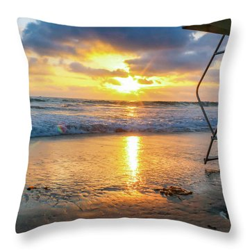 No Lifeguard On Duty Throw Pillow