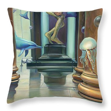 No Limits Redux Throw Pillow by Patrick Anthony Pierson