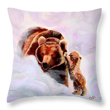 No Mama Throw Pillow