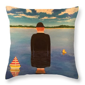 No Man Is An Island T-shirt Throw Pillow by Thomas Blood