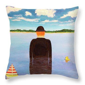 No Man Is An Island Throw Pillow