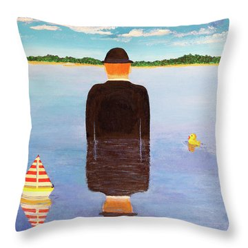 No Man Is An Island Throw Pillow