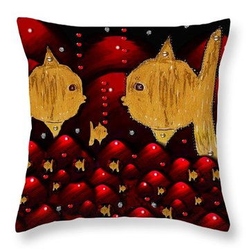 No More Cesium 137 Throw Pillow by Pepita Selles