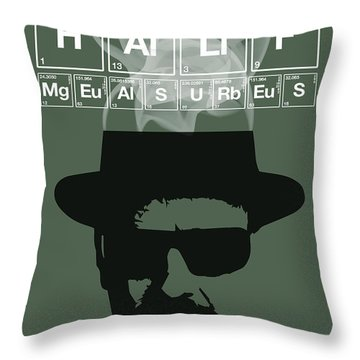 No More Half Measures - Breaking Bad Poster Walter White Quote Throw Pillow