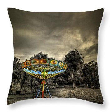 No More Rides Throw Pillow