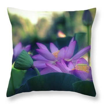No Mud, No Lotus Throw Pillow