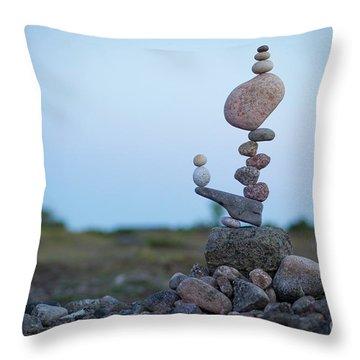 Zen Stack #2 Throw Pillow
