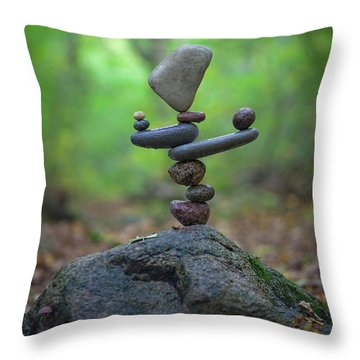 Zen Stack #5 Throw Pillow
