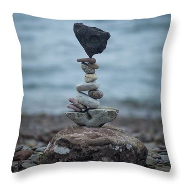 Zen Stack #6 Throw Pillow