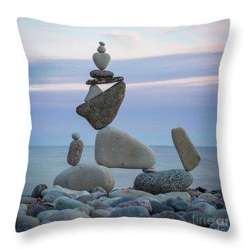 Zen Stack #7 Throw Pillow