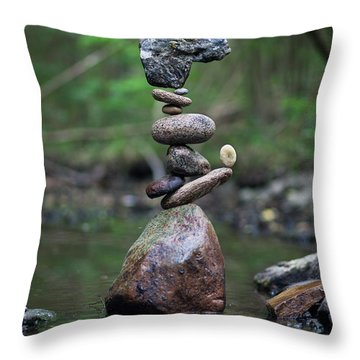 Zen Stack #8 Throw Pillow