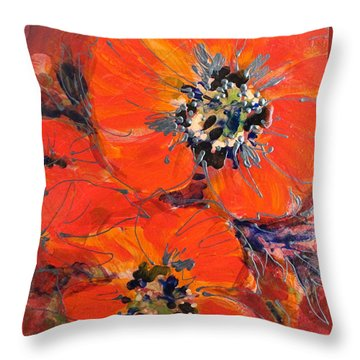 Magic Poppy Throw Pillow