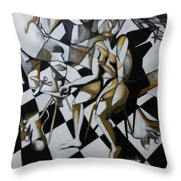 No Need For Violets Throw Pillow