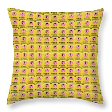No Parking Throw Pillow by Ethna Gillespie