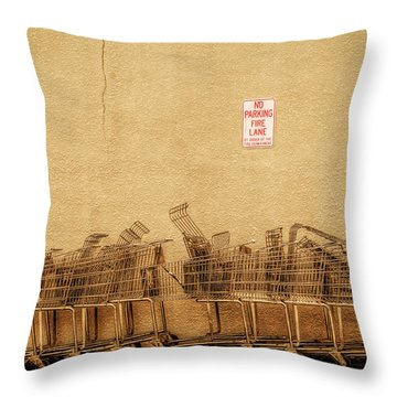 No Parking Fire Lane Throw Pillow