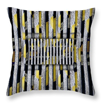Throw Pillow featuring the photograph No Parking Number 2 by Carol Leigh
