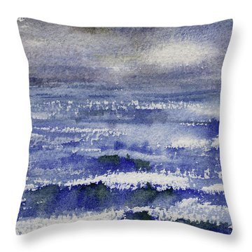 Throw Pillow featuring the painting No Promises by Kris Parins
