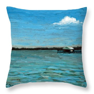 Throw Pillow featuring the painting No Rain Today by Suzanne McKee
