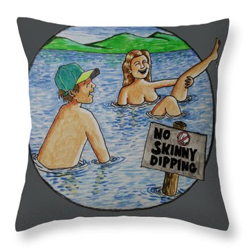 No Skinny Dipping Throw Pillow