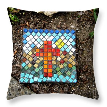 No Stepping Stone Throw Pillow by Marie Neder