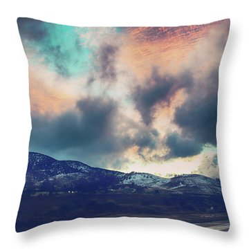 Throw Pillow featuring the photograph No Stopping Us Now by Laurie Search