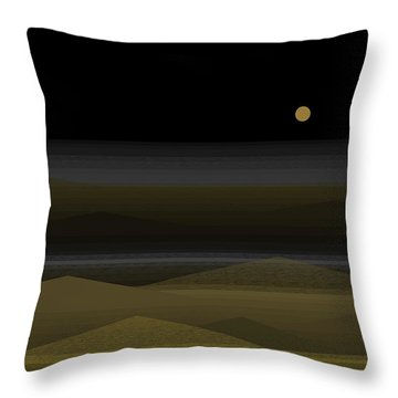 No Swimming After Dark Throw Pillow by Val Arie