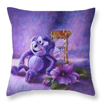 No Time To Monkey Around Throw Pillow
