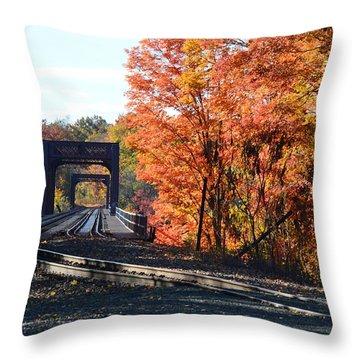 No Train Coming Throw Pillow