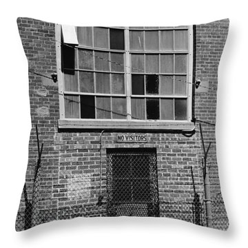No Visitors Throw Pillow