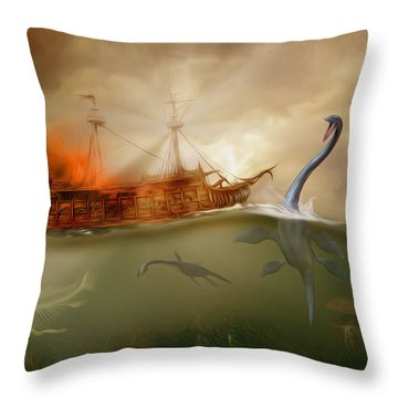 No Way Out Throw Pillow by Surreal Photomanipulation