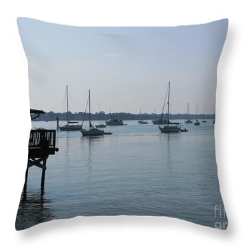 Throw Pillow featuring the photograph No Wind by Greg Patzer