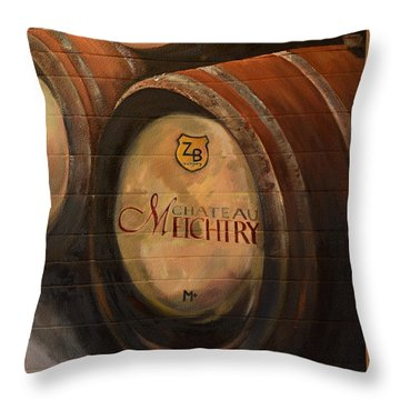 No Wine Before It's Time - Barrels-chateau Meichtry Throw Pillow