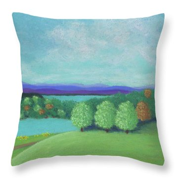 No Wonder He Lived Here Throw Pillow by Anne Katzeff