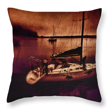 No Yesterdays On The Road Throw Pillow