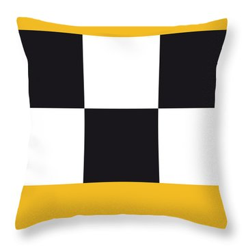 No002 My Taxi Driver Minimal Movie Car Poster Throw Pillow