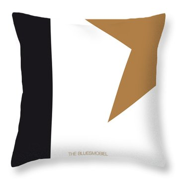 No004 My Blues Brothers Minimal Movie Car Poster Throw Pillow