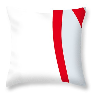 No008 My Speed Racer Minimal Movie Car Poster Throw Pillow