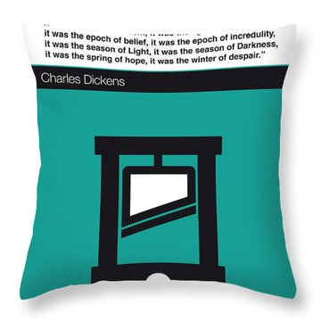 No009 My Tale Of Two Cities Book Icon Poster Throw Pillow by Chungkong Art