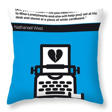 No011-my-miss Lonelyhearts-book-icon-poster Throw Pillow by Chungkong Art