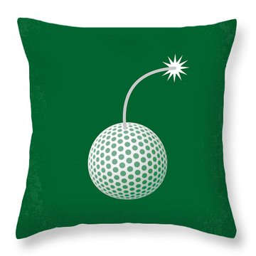 No013 My Caddy Shack Minimal Movie Poster Throw Pillow by Chungkong Art