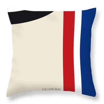 No014 My Herbie Minimal Movie Car Poster Throw Pillow