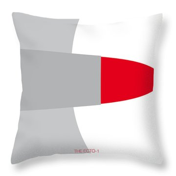 No015 My Ghostbusters Minimal Movie Car Poster Throw Pillow