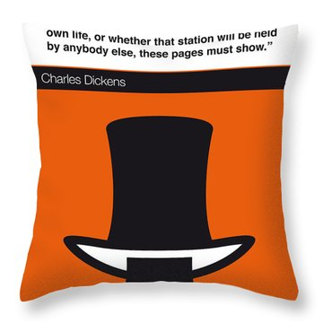 No020-my-david Copperfield-book-icon-poster Throw Pillow