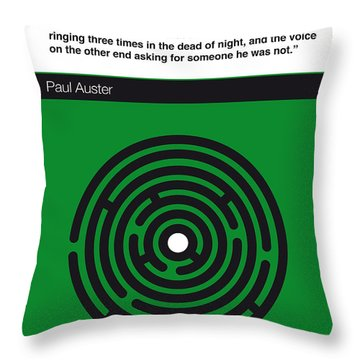 No024-my-city Of Glass-book-icon-poster Throw Pillow