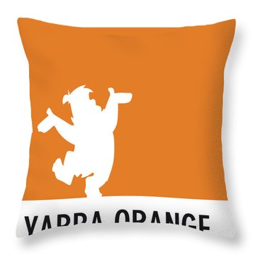 No04 My Minimal Color Code Poster Fred Flintstone Throw Pillow