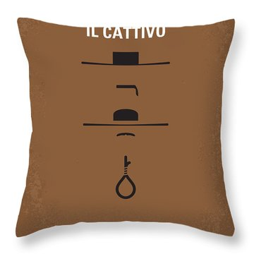 No042 My Il Buono Il Brutto Il Cattivo Minimal Movie Poster Throw Pillow