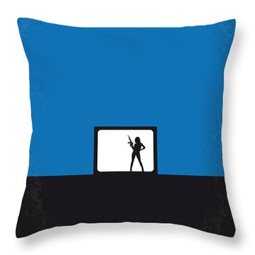 No044 My Jackie Brown Minimal Movie Poster Throw Pillow by Chungkong Art