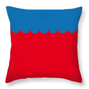 No046 My Jaws Minimal Movie Poster Throw Pillow