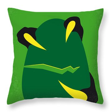 No047 My Jurassic Park Minimal Movie Poster Throw Pillow by Chungkong Art