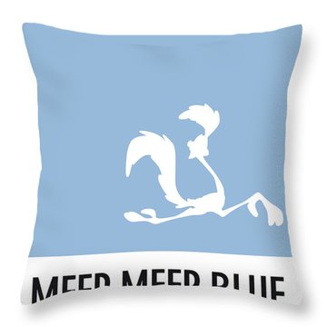 No05 My Minimal Color Code Poster Road Runner Throw Pillow